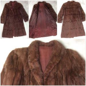 Red Fox Animal Fur Long Luxurious Coat Costume